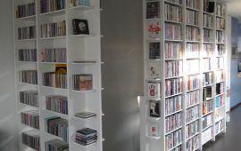 dvd- en cdkast